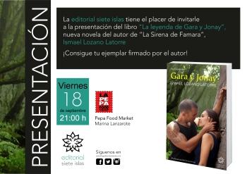 Invitación presentación Gara y Jonay
