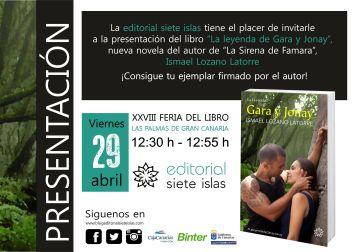 Invitación presentación Gara y Jonay Feria libro LPGC 29deAbril