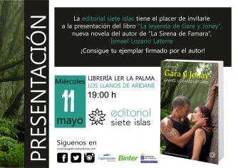 Invitación presentación Gara y Jonay La Palma 11demayo